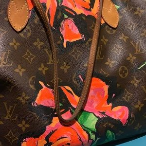 LTD Louis Vuitton Stephen Sprouse roses neverfull